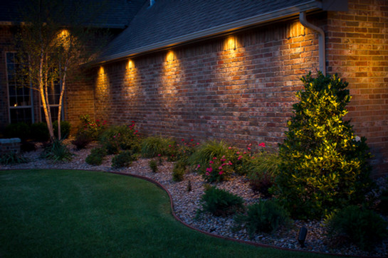 Landscape Lighting by Red Valley Landscape & Construction in OKC