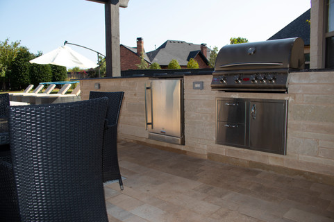 Custom Outdoor Kitchen by Red Valley Landscape & Construction in Georgetown, Texas
