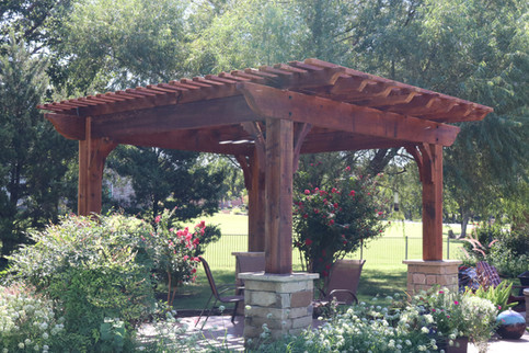 Custom Arbors & Pavilions by Red Valley Landscape & Construction in Spicewood, Texas