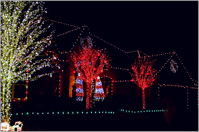 Holiday Lighting by Red Valley Landscape & Construction in Oklahoma City