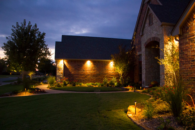 Landscape Lighting by Red Valley Landscape & Construction in Oklahoma