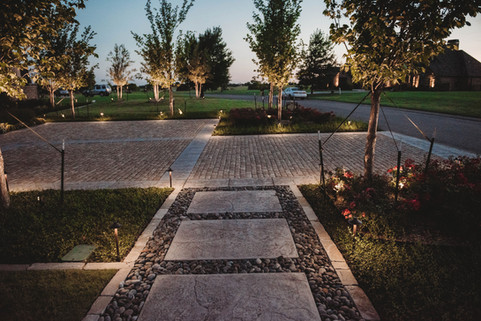 Landscape Lighting by Red Valley Landscape & Construction in Nichols Hills, Ok