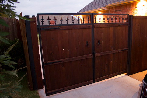 Custom Fences & Trellis by Red Valley Landscape & Construction in Norman, Ok