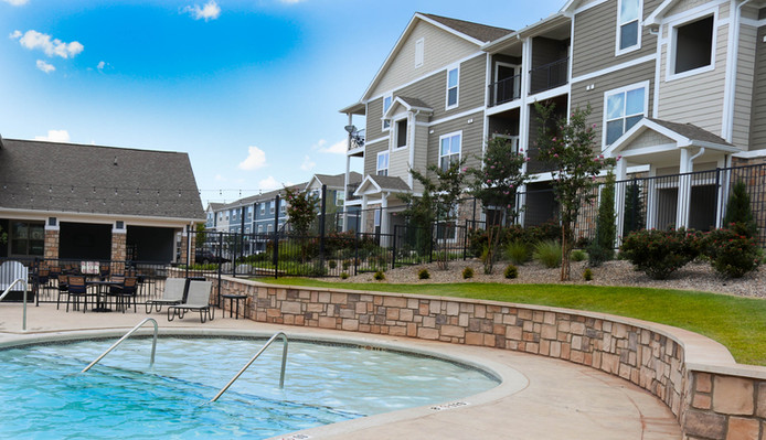 Custom Commercial Pools & Spas by Red Valley Landscape & Construction in Oklahoma City