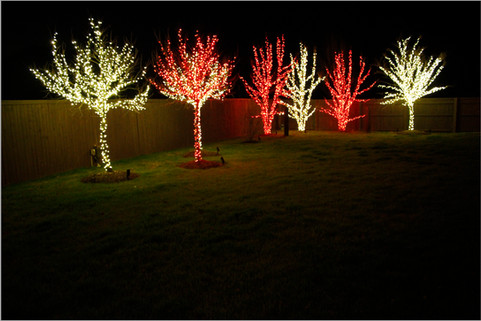 Holiday Lighting by Red Valley Landscape & Construction in OKC Metro