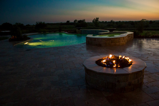 Custom Fire Pits & Fireplaces by Red Valley Landscape & Construction in Elk City, Ok