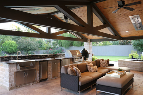 Custom Outdoor Kitchen by Red Valley Landscape & Construction in Nichols Hills, Ok