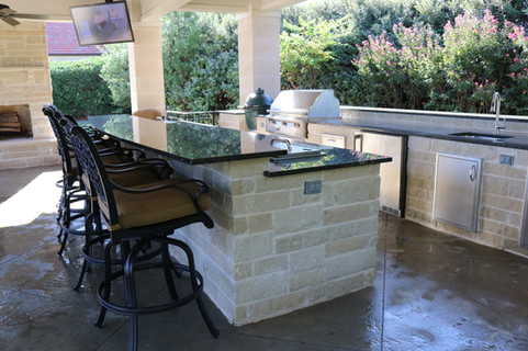Custom Outdoor Kitchen by Red Valley Landscape & Construction in Marble Falls, Texas