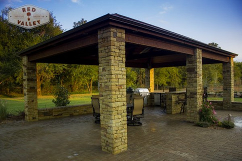 Custom Arbors & Pavilions by Red Valley Landscape & Construction in Bee Cave, Texas