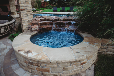 Custom Swimming Pools, Spas, and Wate Features by Red Valley Landscape & Construction located in Edmond, Ok