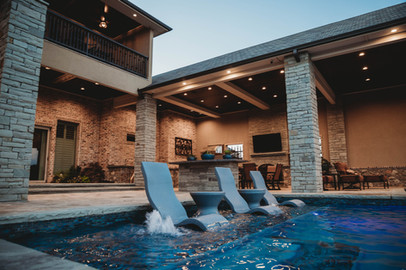 Custom Swimming Pools, Spas, and Water Features by Red Valley Landscape & Construction located in Lake Travis, Texas