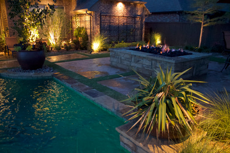 Custom Fire Pits & Fireplaces by Red Valley Landscape & Construction in Brushy Creek, Texas