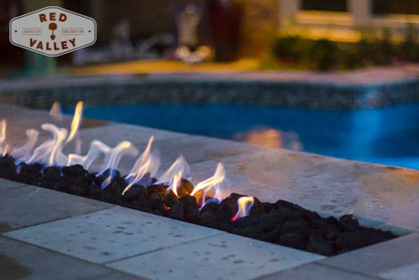 Custom Fire Pits & Fireplaces by Red Valley Landscape & Construction in Austin, Texas