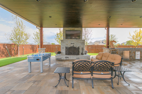 Custom Fire Pits & Fireplaces by Red Valley Landscape & Construction in Spicewood, Texas