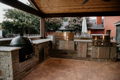 Custom Outdoor Kitchen by Red Valley Landscape & Construction in Tuttle, Ok