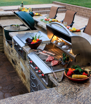Custom Outdoor Kitchen by Red Valley Landscape & Construction in Volente, Texas