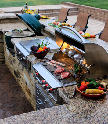 Custom Outdoor Kitchen by Red Valley Landscape & Construction in Volente, Texas