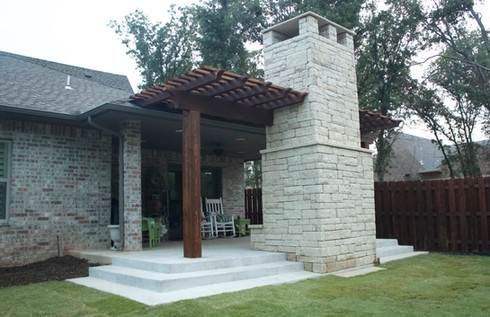 Custom Fire Pits & Fireplaces by Red Valley Landscape & Construction in Bethany, Ok