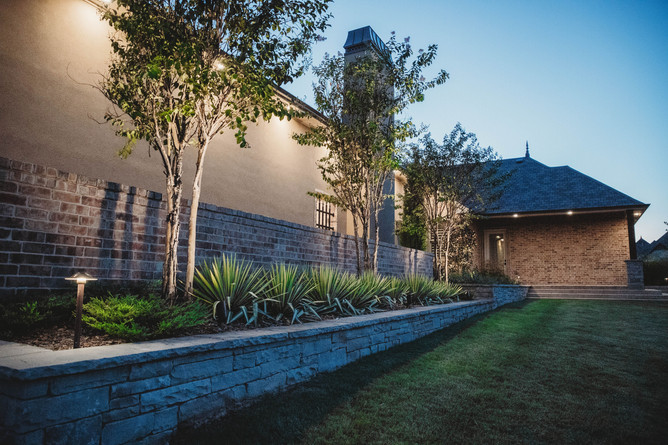 Landscape Lighting by Red Valley Landscape & Construction in Oklahoma City