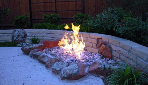 Custom Fire Pits & Fireplaces by Red Valley Landscape & Construction in Moore, Ok