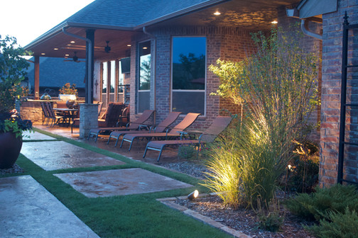 Landscape Lighting by Red Valley Landscape & Construction in Edmond, Ok