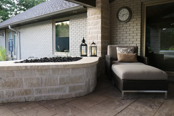 Custom Fire Pits & Fireplaces by Red Valley Landscape & Construction in Nichols Hills, Ok