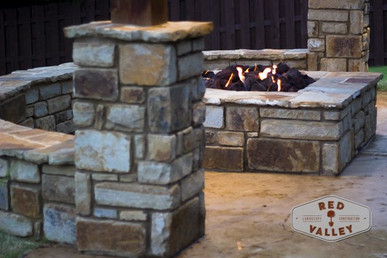 Custom Fire Pits & Fireplaces by Red Valley Landscape & Construction in Lakeway, Texas