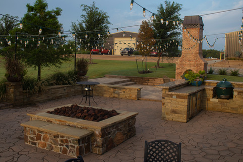 Custom Fire Pits & Fireplaces by Red Valley Landscape & Construction in Austin, TX