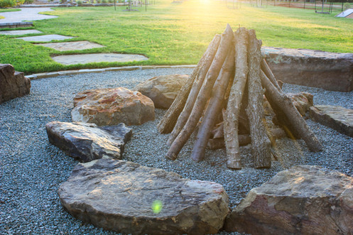 Custom Fire Pits & Fireplaces by Red Valley Landscape & Construction in Oklahoma