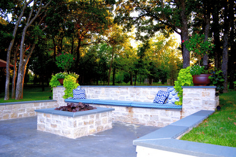 Custom Fire Pits & Fireplaces by Red Valley Landscape & Construction in Arcadia, Ok