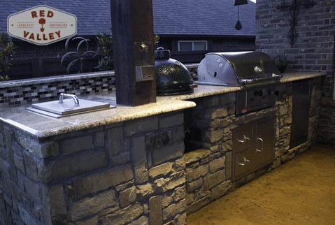 Custom Outdoor Kitchen by Red Valley Landscape & Construction in Edmond, Ok