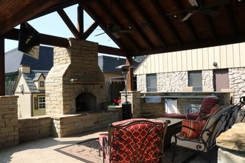 Custom Fire Pits & Fireplaces by Red Valley Landscape & Construction in Oklahoma City