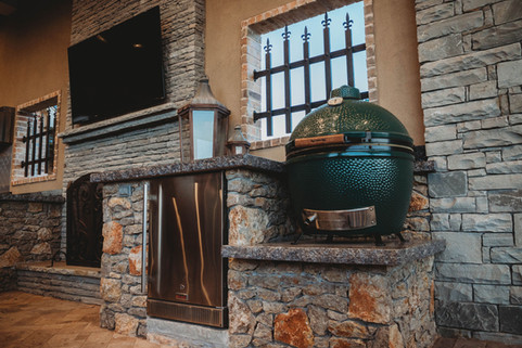 Custom Outdoor Kitchen by Red Valley Landscape & Construction in Briarcliff, Texas