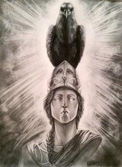 """The Raven (9""""x11"""") graphite"""