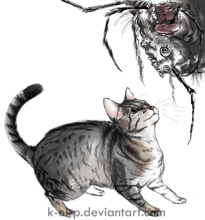 Cat meets Junji Ito Creature