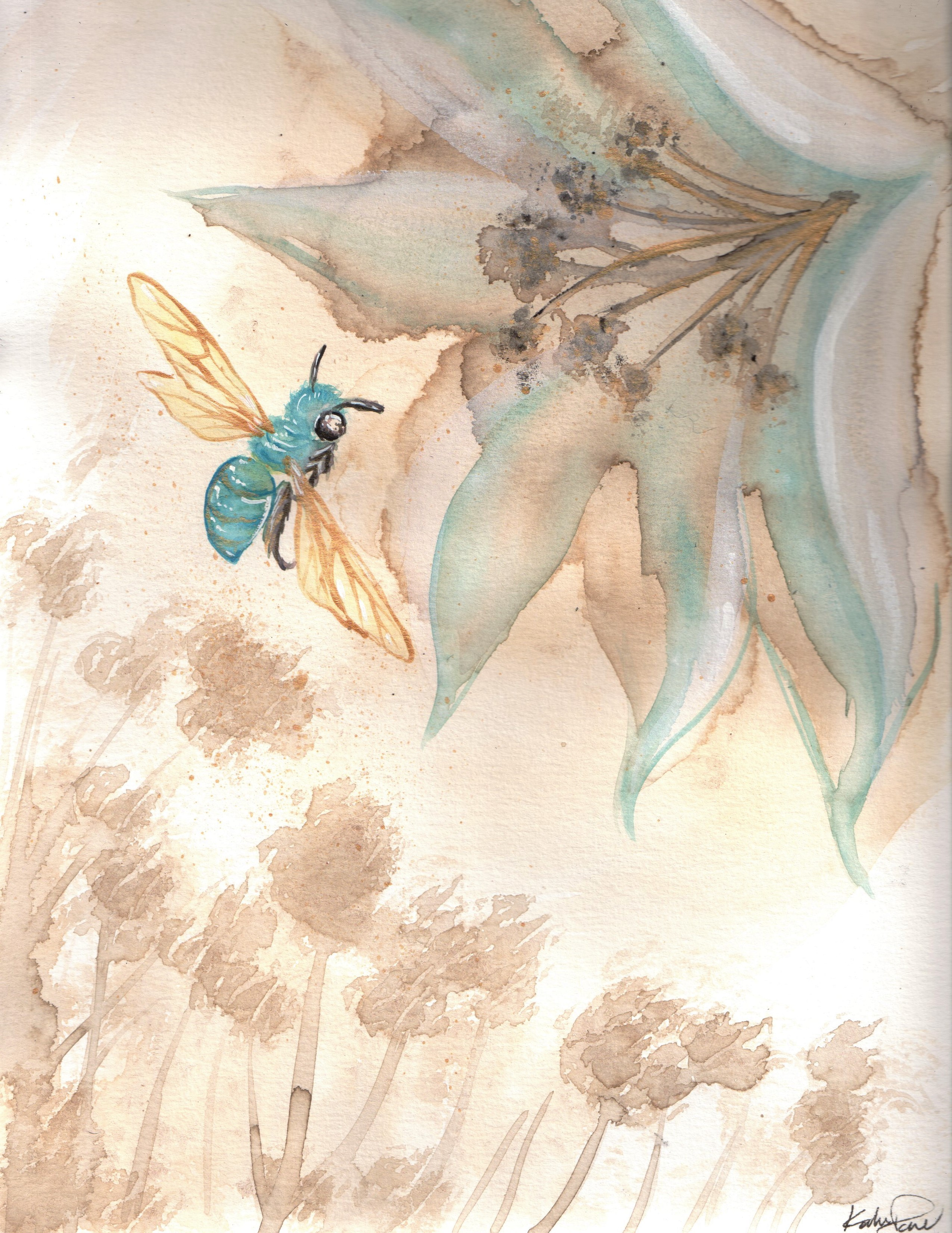 Coffee Jewel Bee