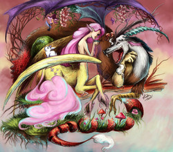 Fluttershy and Discord