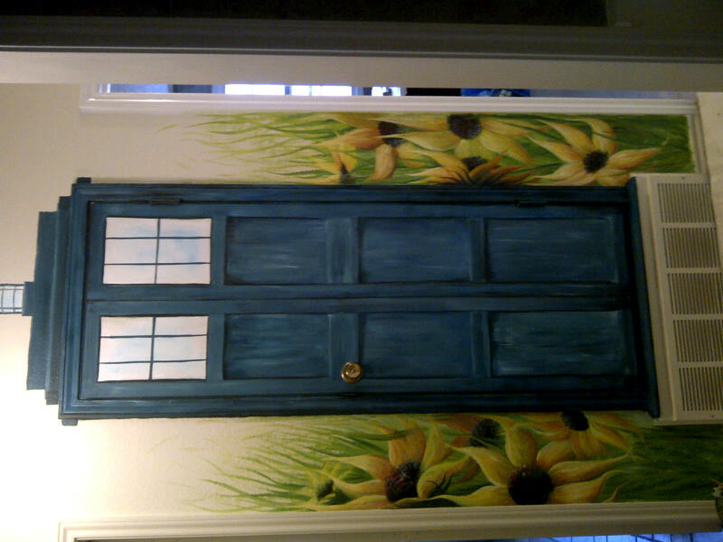 Tardis door wall mural