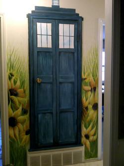 Tardis door wall mural