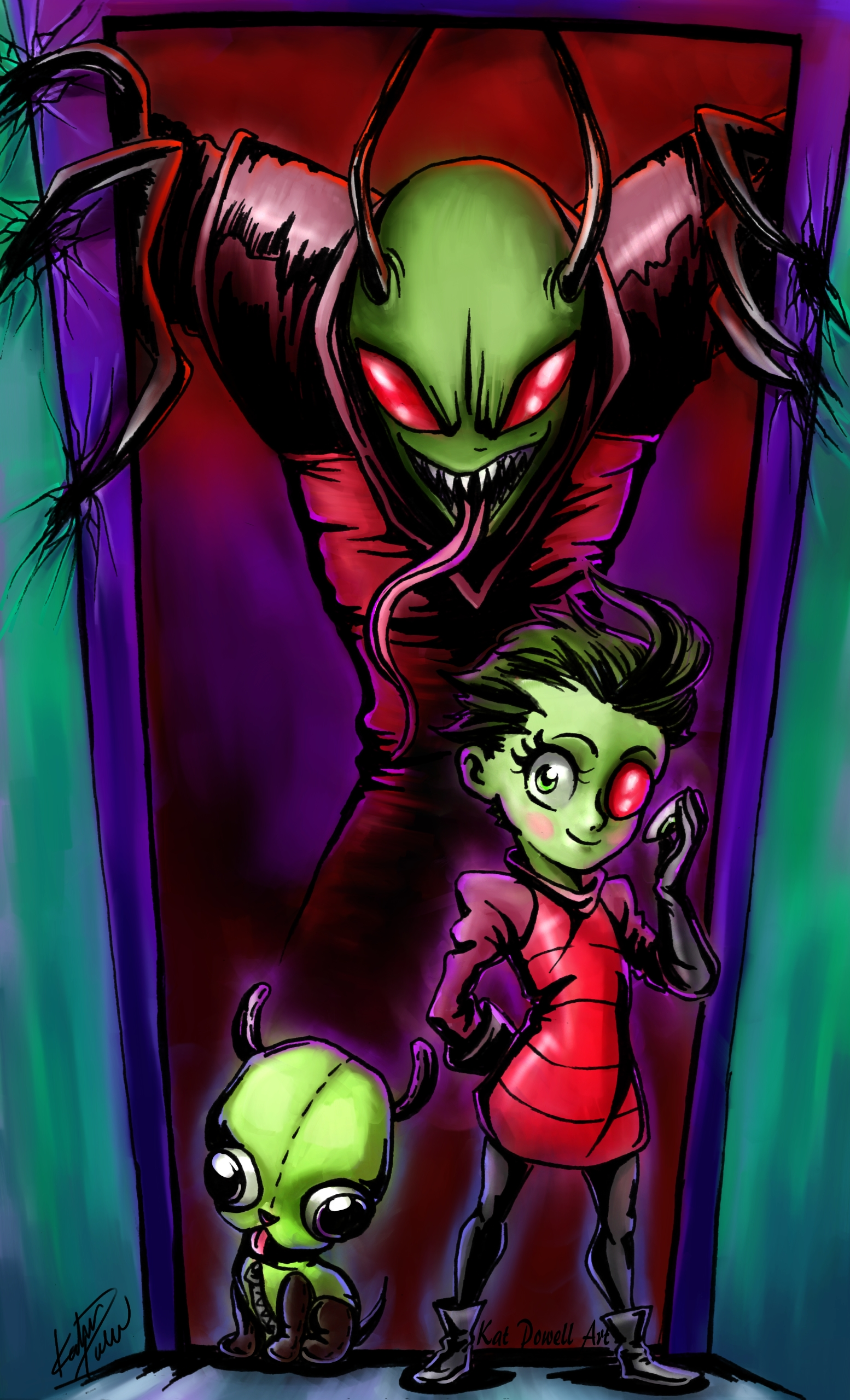 Invader Zim color wm