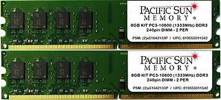819555011542 - 8GB KIT 1333MHz DDR3 DIMM