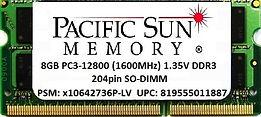 819555011887 -8GB 1600MHz 1.35V DDR3 SO-