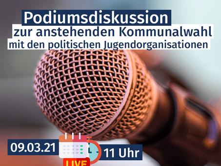 Podiumsdiskussion zur Kommunalwahl 2021