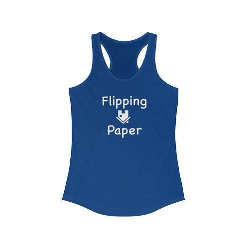 Flipping Paper White Text on a Women's Ideal Racerback Tank