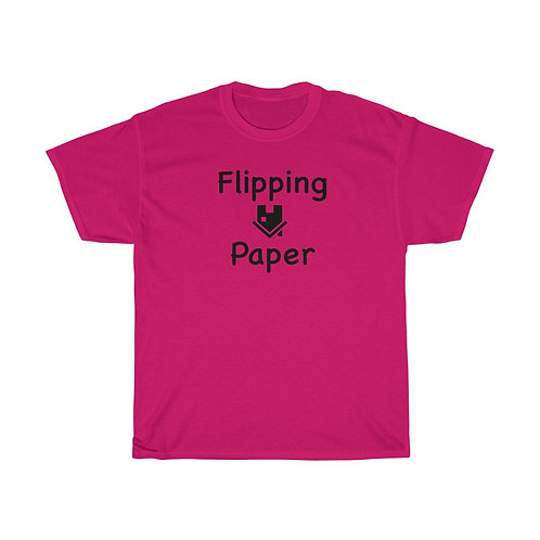 Flipping Paper Unisex Heavy Cotton Tee