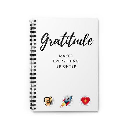 Gratitude Spiral Notebook - Ruled Line