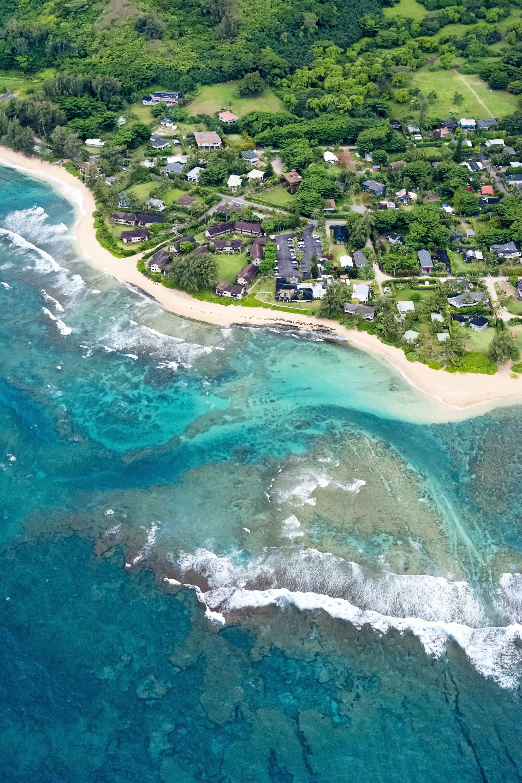 air photo of kauai