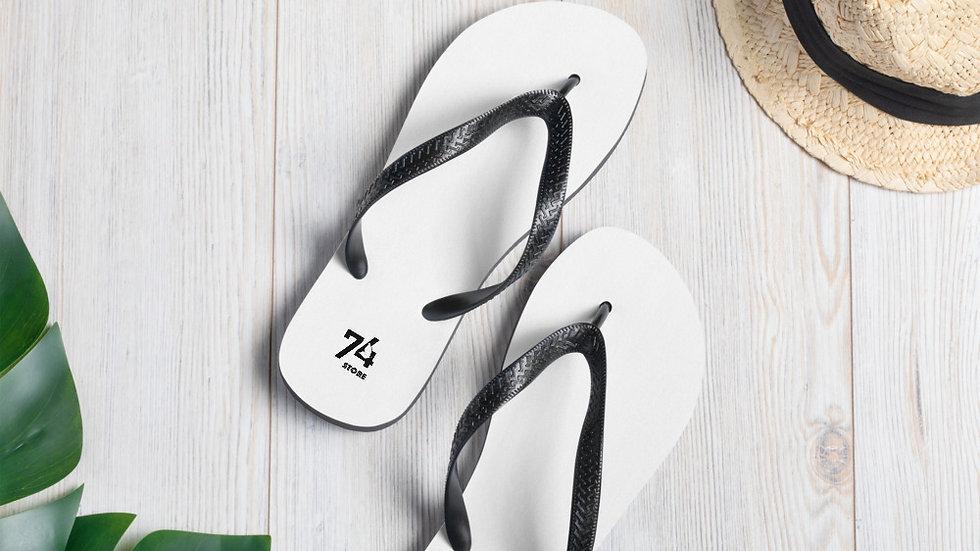 Black & White Logo Flip-Flops