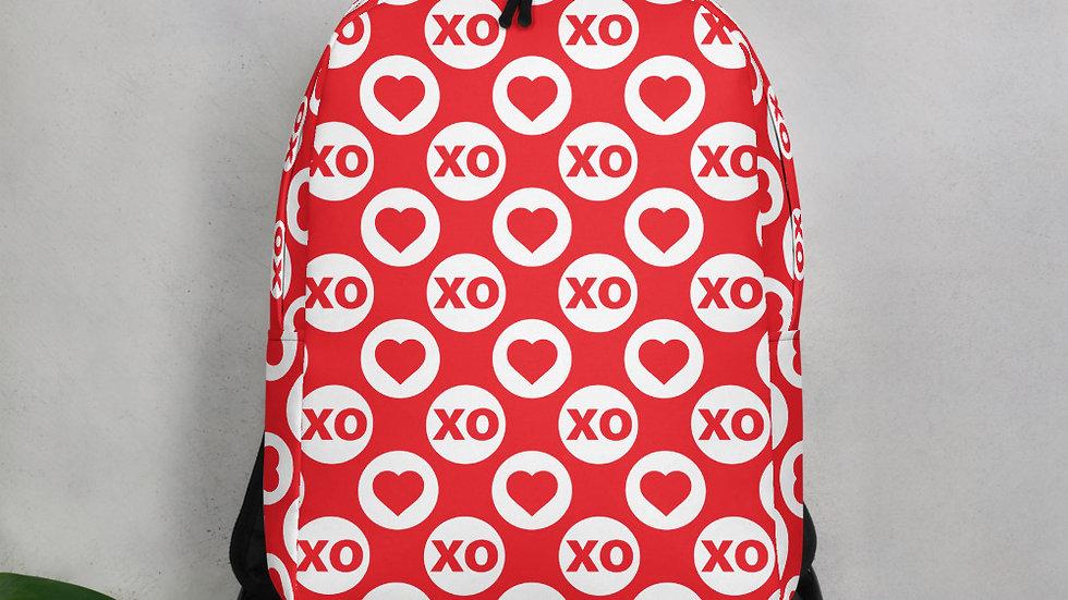 Red XO Heart Minimalist Backpack