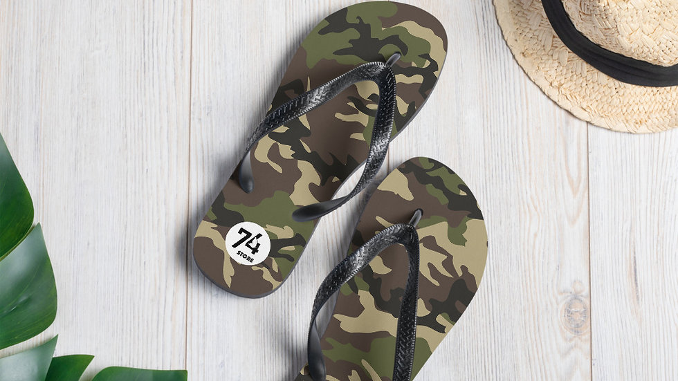 Military Warrior Camouflage Flip-Flops